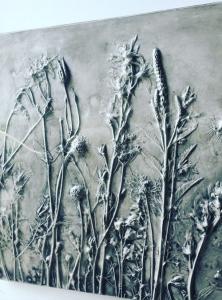 Botanical Bas Relief