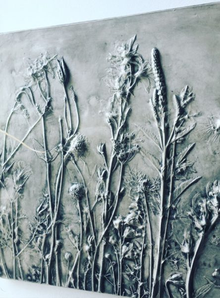 Botanical Bas Relief
